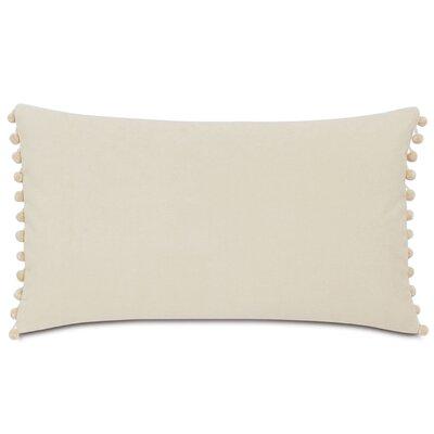 Plush Frou Frou Cotton Lumbar Pillow Color: Ivory