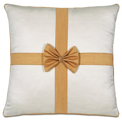 Gift Throw Pillow Color: Gold/White