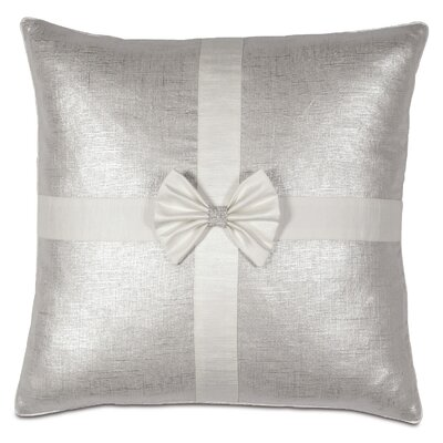 Gift Throw Pillow Color: Silver