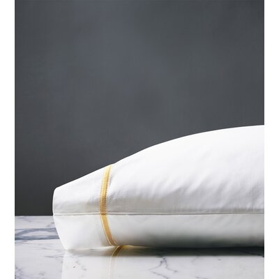 Gala Egyptian Pillow Case Size: Standard, Color: Lemon