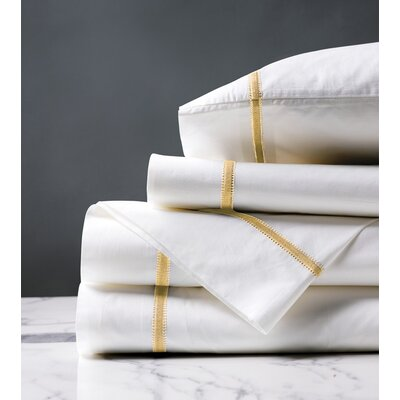 Gala 4 Piece 200 Thread Count Egyptian-Quality Cotton Sheet Set Size: California King, Color: Lemon