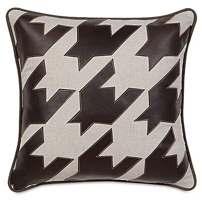 MacCallum Hoffman Houndstooth Applique Throw Pillow