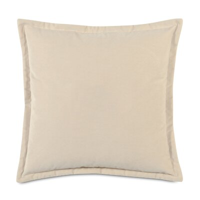 Jackson Solid Velvet Throw Pillow Size: 20 x 20, Color: Ivory