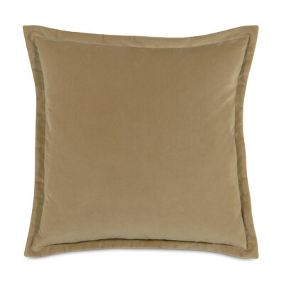 Jackson Solid Velvet Throw Pillow Size: 20 x 20, Color: Gold