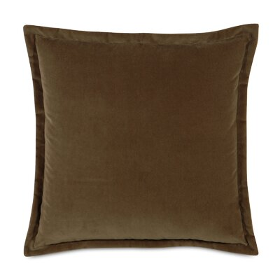 Jackson Solid Velvet Throw Pillow Size: 20 x 20, Color: Mocha