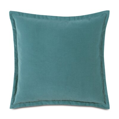 Jackson Solid Velvet Throw Pillow Size: 20 x 20, Color: Ocean