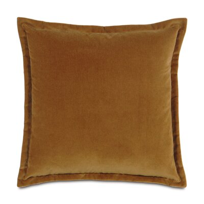 Jackson Solid Velvet Throw Pillow Size: 15 x 26, Color: Rust