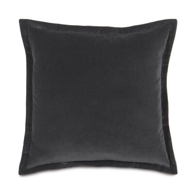 Jackson Solid Velvet Throw Pillow Size: 20 x 20, Color: Charcoal