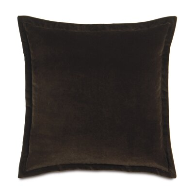 Jackson Solid Velvet Throw Pillow Size: 20 x 20, Color: Brown
