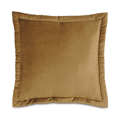 Lucerne Reuss Mitered Flange Velvet Sham Color: Gold, Size: 21 x 37