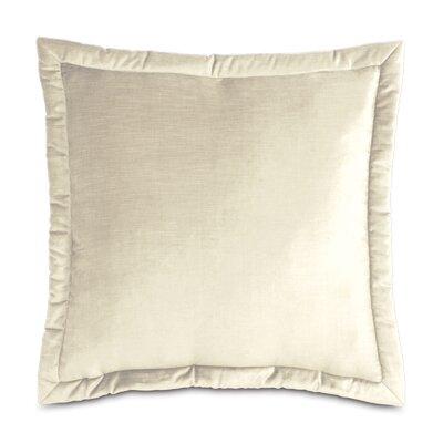 Lucerne Reuss Mitered Flange Velvet Sham Size: 21 x 37, Color: Ivory