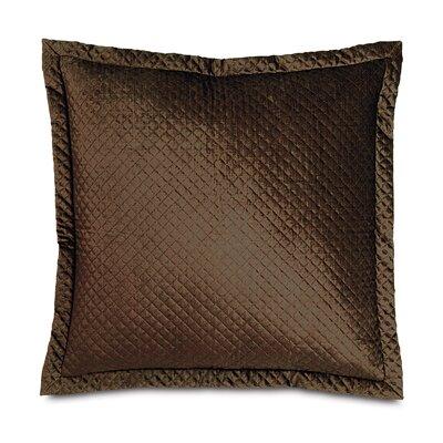 Lucerne Reuss Mitered Flange Velvet Sham Size: 21 x 37, Color: Mocha