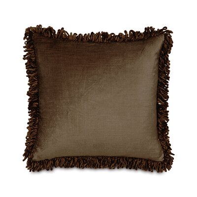 Lucerne Cotton Throw Pillow Color: Mocha