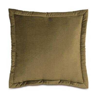 Lucerne Reuss Mitered Flange Velvet Sham Size: 20 x 27, Color: Olive
