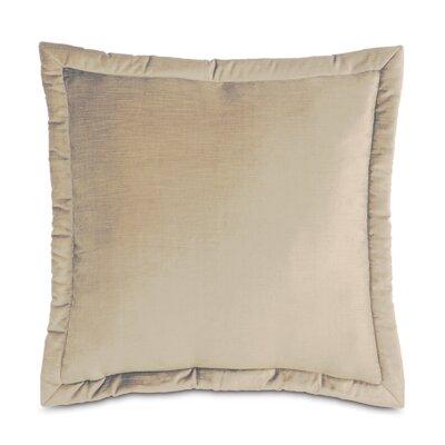 Lucerne Reuss Mitered Flange Velvet Sham Size: 20 x 27, Color: Taupe