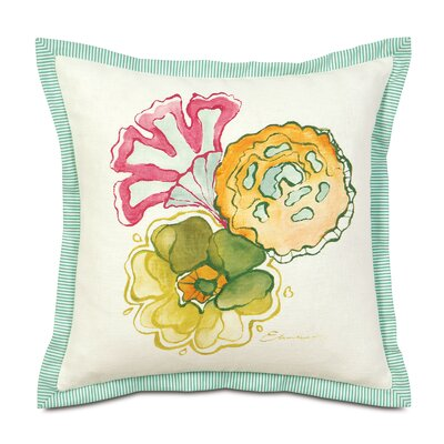 Portia Hand-Painted Motif Throw Pillow