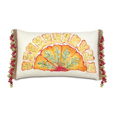 Portia Hand-Painted Motif Lumbar Pillow
