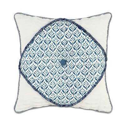 Ceylon Kari Iris Diamont Tufted Throw Pillow