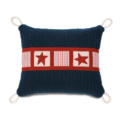 Carter Polyester Hand-Painted Carter Decorative Pillow