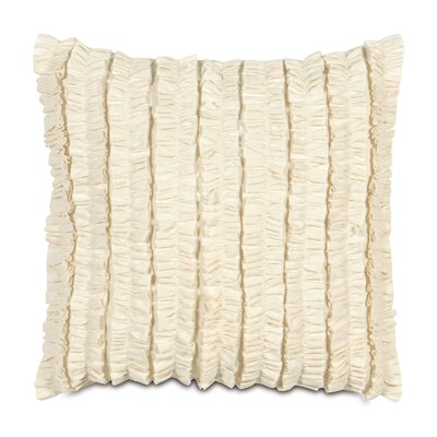 Breeze Mitered Throw Pillow Color: Pearl