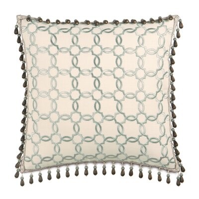 Kira Verlaine Beaded Trim Throw Pillow