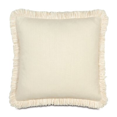 Breeze Mitered Throw Pillow Size: 20 x 20, Color: Pearl