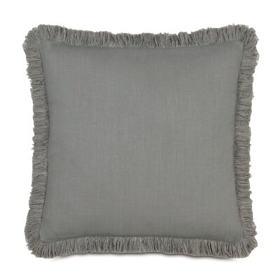 Breeze Mitered Throw Pillow Size: 24 x 24, Color: Slate