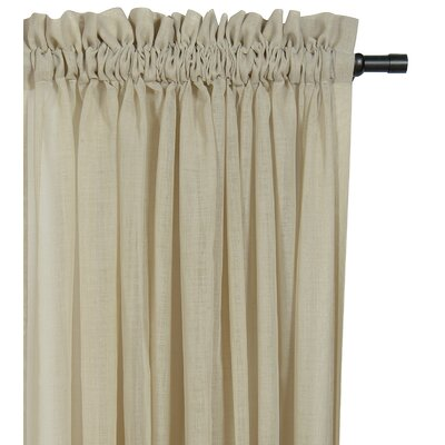 Palapa Ruffled Rod Pocket Single Curtain Panel