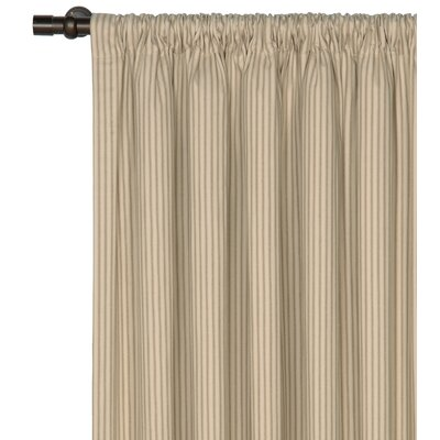 Heirloom Ticking Stripe Rod Pocket Single Curtain Panel