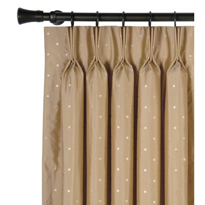 Iris Silk 3 Finger Pleated Single Curtain Panel