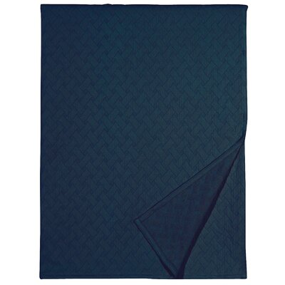 Briseyda Matelasse Cotton Throw Color: Indigo