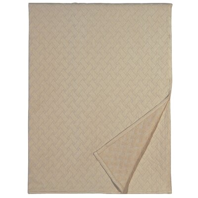 Briseyda Matelasse Cotton Throw Color: Sand