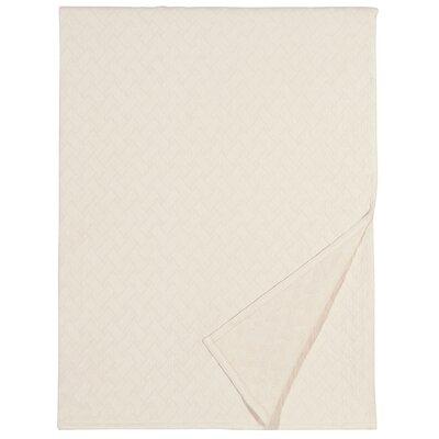 Briseyda Matelasse Cotton Throw Color: Shell