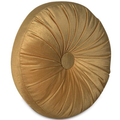Lucerne Tambourine Velvet Throw Pillow Color: Gold