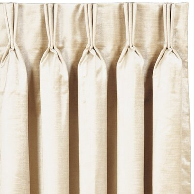 Lucerne Three Finger Pleated Single Curtain Panel