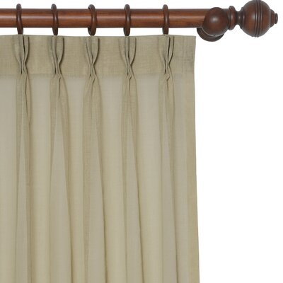 Palapa Three-Finger Pleated Single Curtain Panel