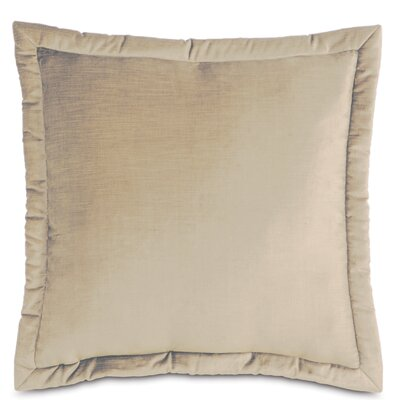 Lucerne Velvet Throw Pillow Size: 20 x 27, Color: Taupe