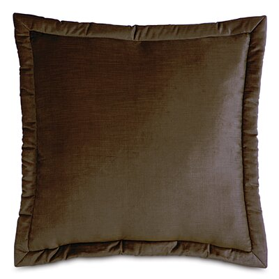 Lucerne Velvet Throw Pillow Size: 20 x 27, Color: Mocha