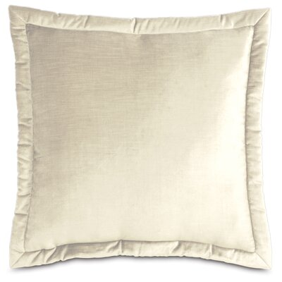 Lucerne Velvet Throw Pillow Color: Ivory, Size: 21 x 37