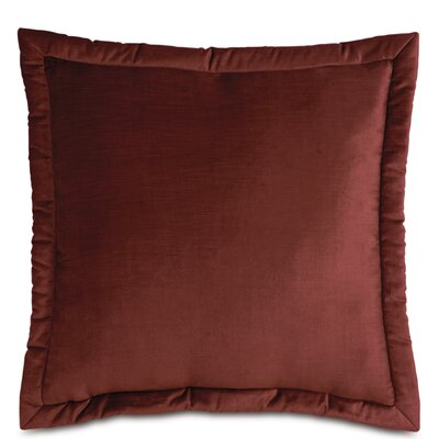 Lucerne Velvet Throw Pillow Size: 27 x 27, Color: Spice