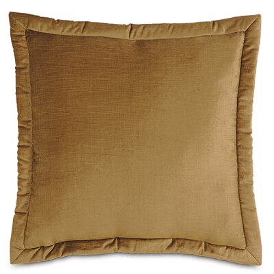 Lucerne Velvet Throw Pillow Size: 27 x 27, Color: Gold