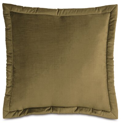 Lucerne Velvet Throw Pillow Size: 21 x 37, Color: Olive