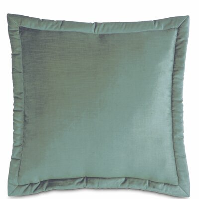 Lucerne Velvet Throw Pillow Size: 27 x 27, Color: Ocean