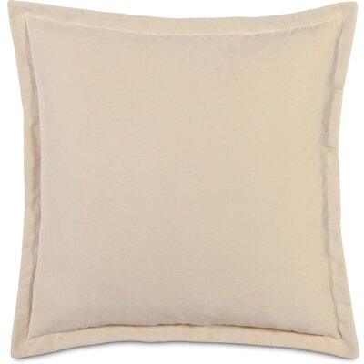 Jackson Sham Size: Standard, Color: Ivory