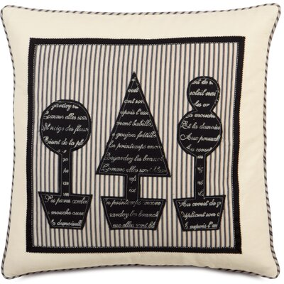 Evelyn Fullerton Ink Topiary Block Printed Throw Pillow
