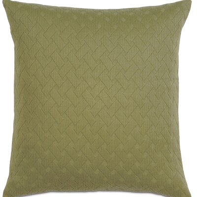 Briseyda Matelasse Cotton Throw Pillow Color: Palm