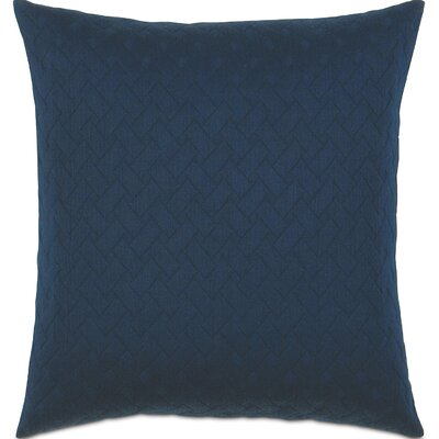 Briseyda Matelasse Cotton Throw Pillow Color: Indigo