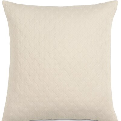 Briseyda Matelasse Cotton Throw Pillow Color: Shell