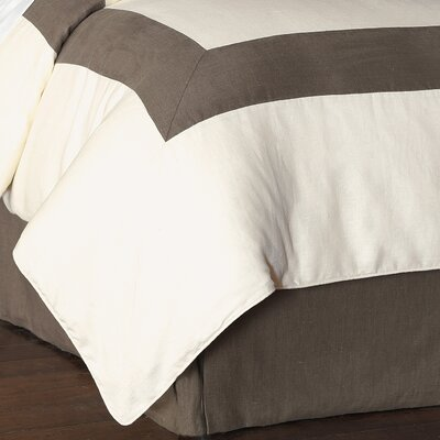 Breeze Duvet Cover Size: Full, Color: Pearl Clay