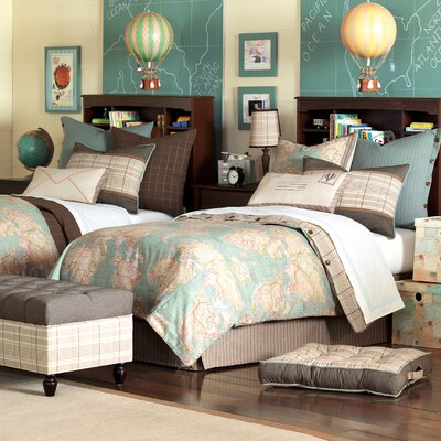 Kai Reversible Duvet Cover Set Size: Queen